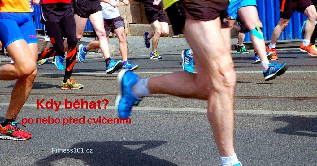 Kdy běhat? Před cvičením?